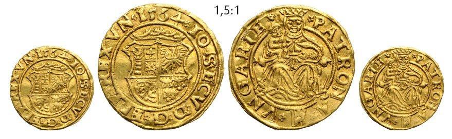 Ducat 1564, Klausenburg (Cluj), Gold, 3,52 g. Resch 30