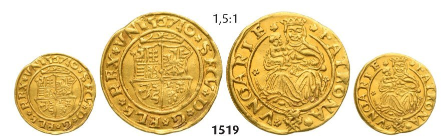 Ducat 1567, Hermannstadt (Sibiu), Gold, 3,52 g.