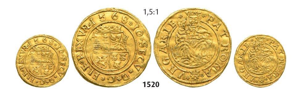 Ducat 1568, Hermannstadt (Sibiu), Gold, 3,54 g