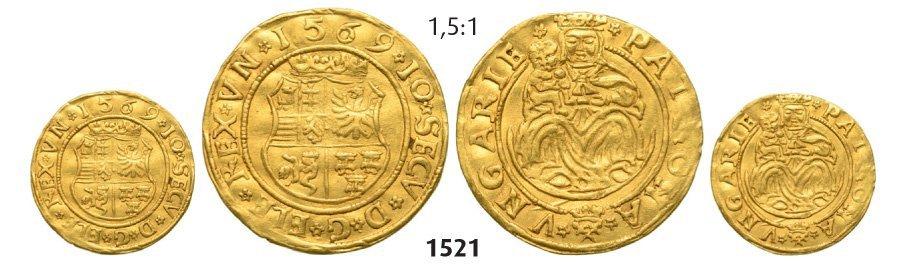 Ducat 1569, Hermannstadt (Sibiu), Gold, 3,48 g.