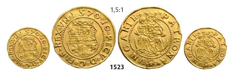Ducat 1570, Hermannstadt (Sibiu), Gold, 3,56 g