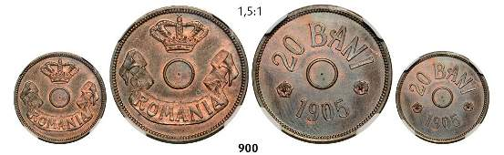 20 Bani 1905 Pattern, no hole, Copper.