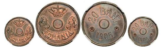 20 BANI 1905 PATTERN, NO HOLE