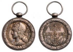 Madagascar, 1st Campaign Medal, Instituted In 1886