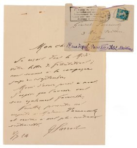 Friendly Letter From General Sarrail To Taranovski