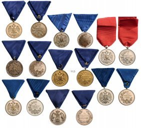 Silver Medals For Zealous Service (7) And Civil Merit