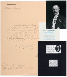 Order Of Takovo Announcing Letter From The Danish
