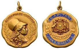 A Very Rare Medal of the War Academy 19111913