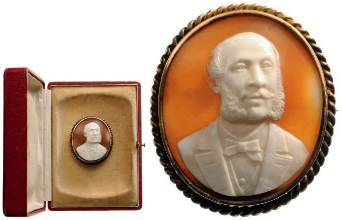 Cameo with Portrait of Emperor Franz Joseph in Civil