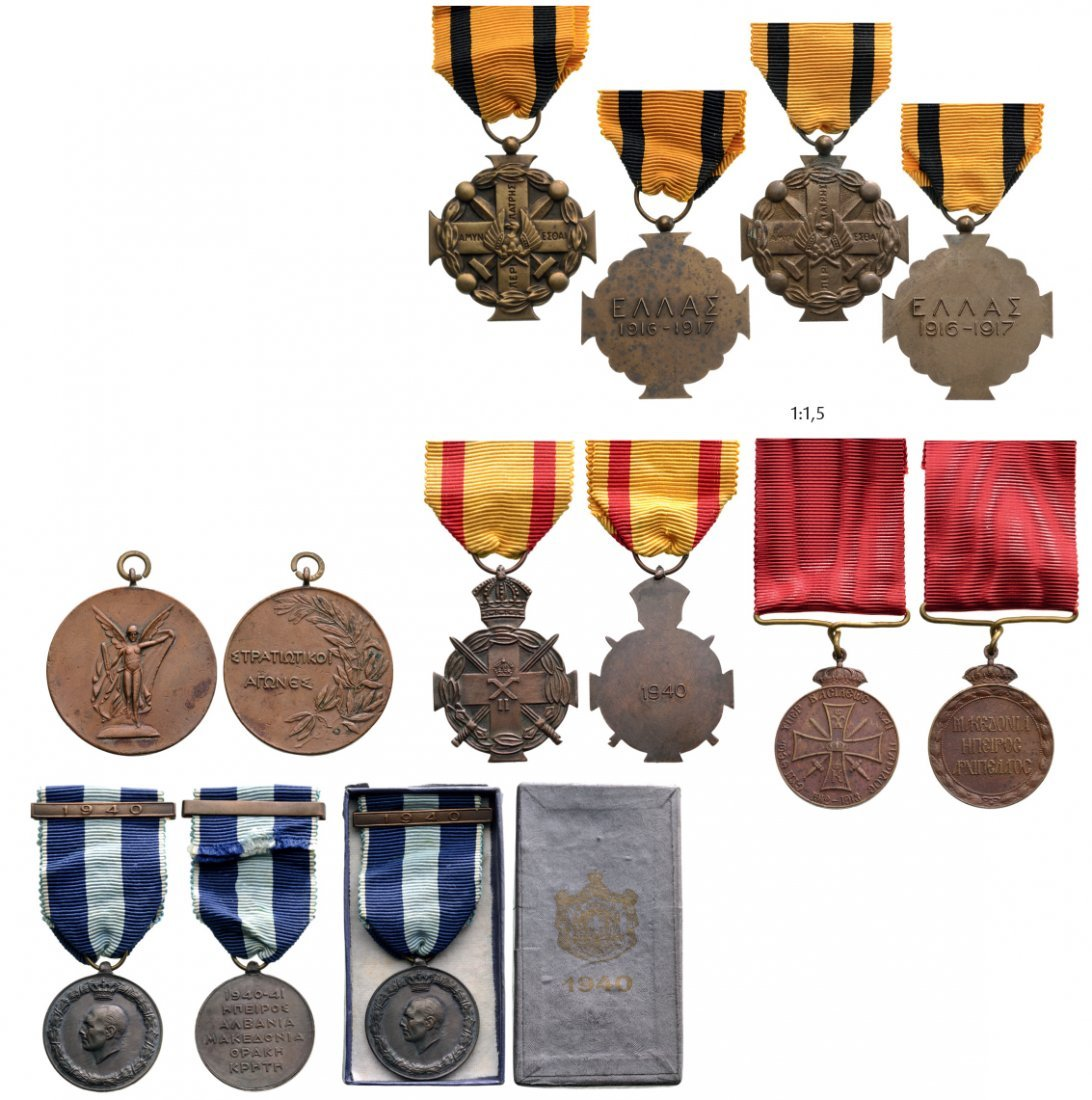Group of 6 Medals