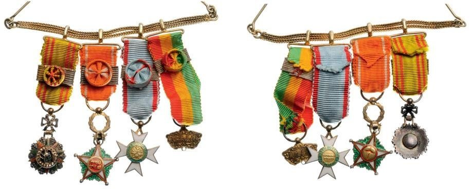 Medal Chain with 4 Decorations