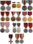 Lot of 11 Polish Medals