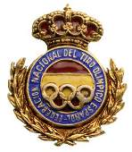 BADGE OF THE SPANISH OLYMPIC SHOOTING FEDERATION