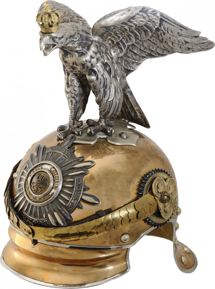 Officer's Garde du Corps Helmet with parade eagle