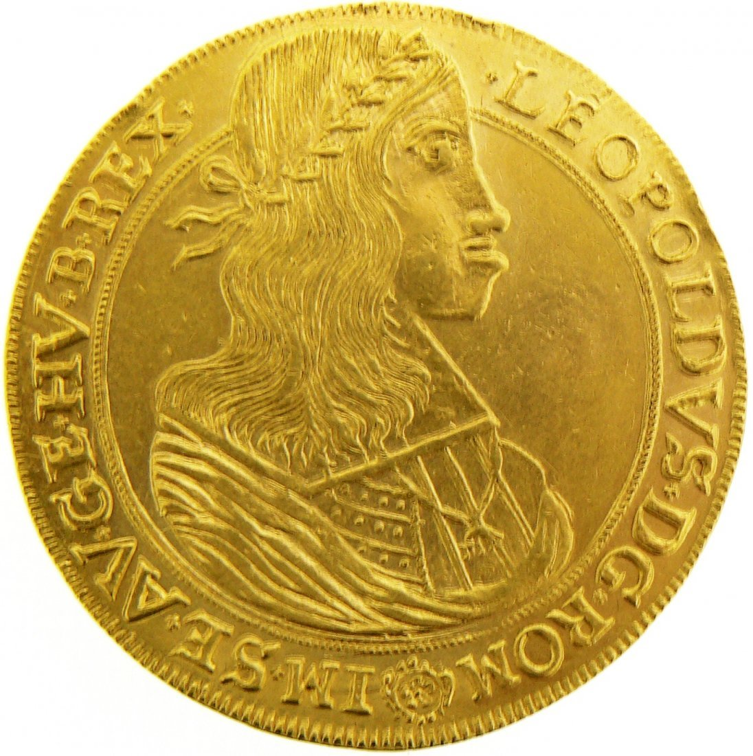 Leopold I (1658-1705). 10 Ducats 1659 Vienna. GOLD