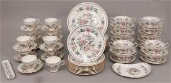 """Set of Aynsley """"Pembroke"""" dinnerware"""