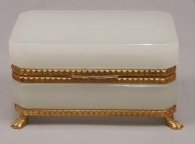 Opaline And Bronze Mounted Dresser Box