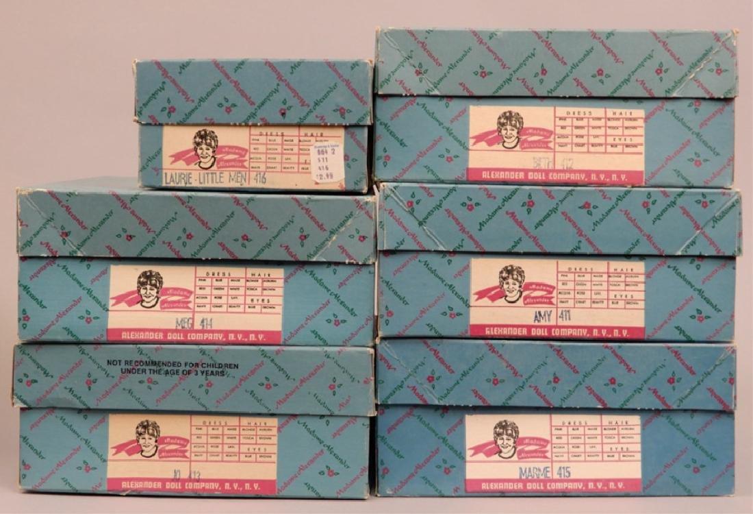Six Madame Alexander Little Women dolls in boxes - 7