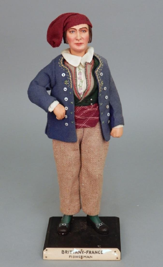 WPA doll Brittany France Fisherman