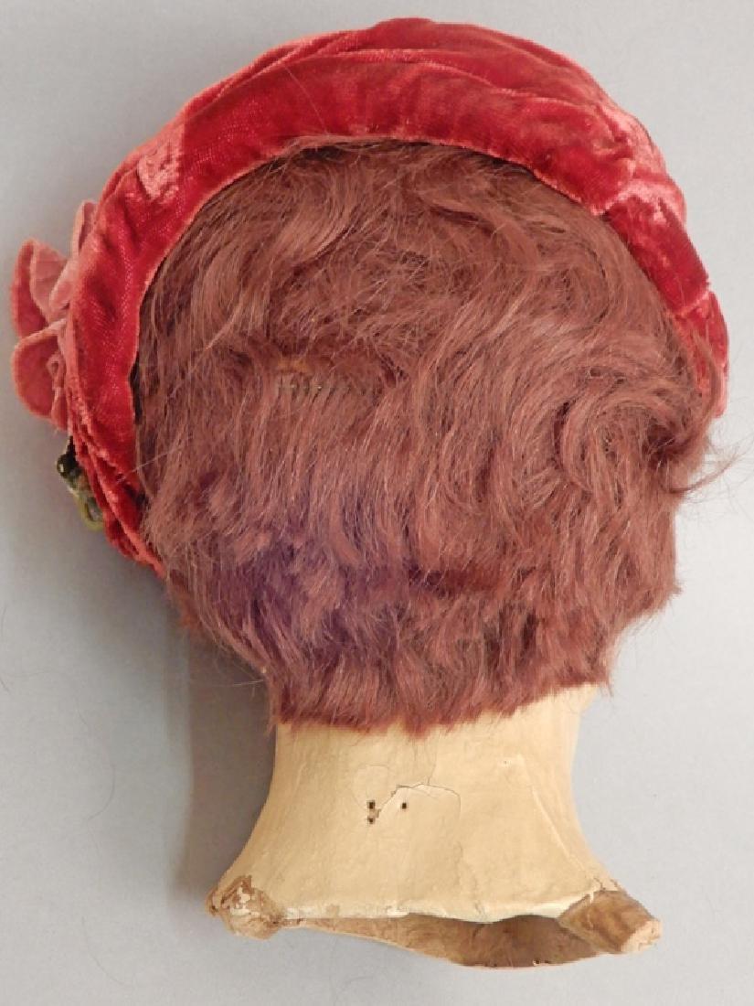 1930's-40's mannequin head hat display - 2