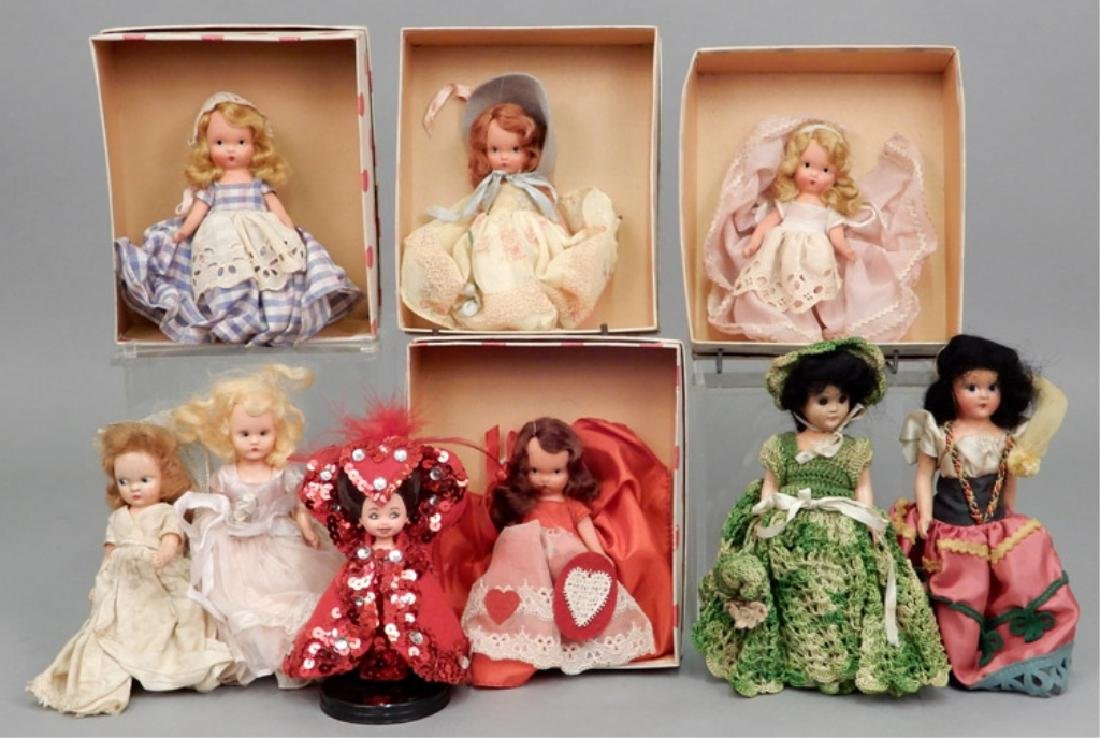 Nancy Ann Storybook doll grouping