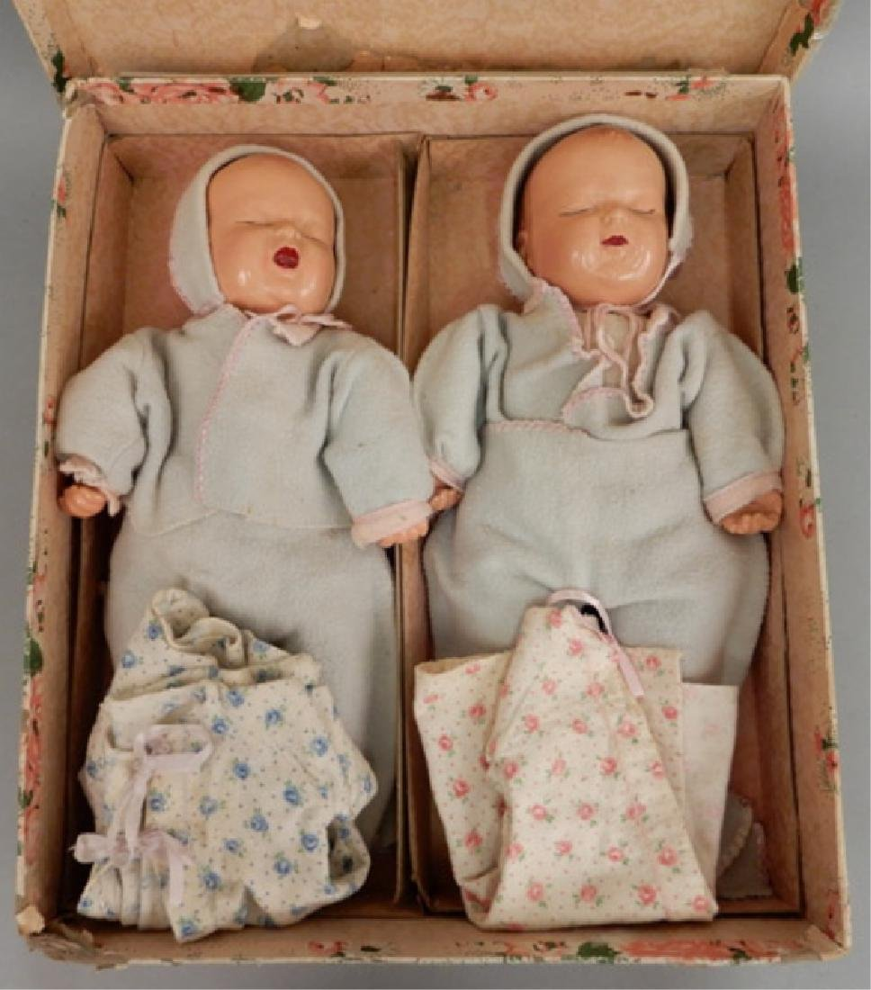 1940's Composition twin set in original box