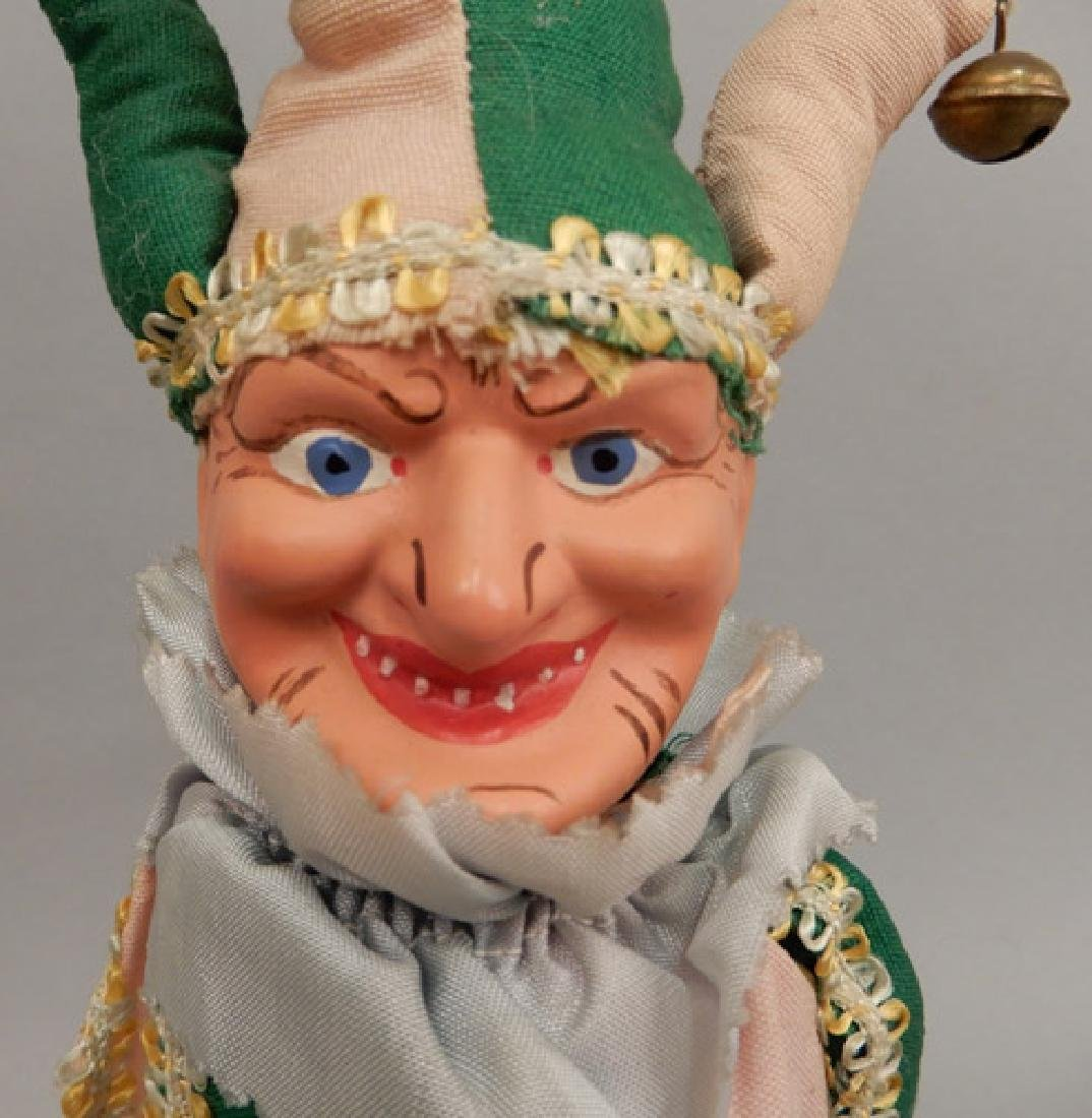1940's composition clown on wooden stick - 2