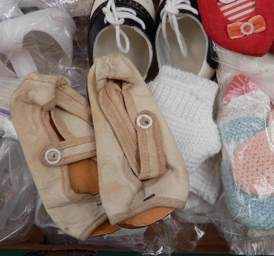 Grouping of doll shoes and socks - 3