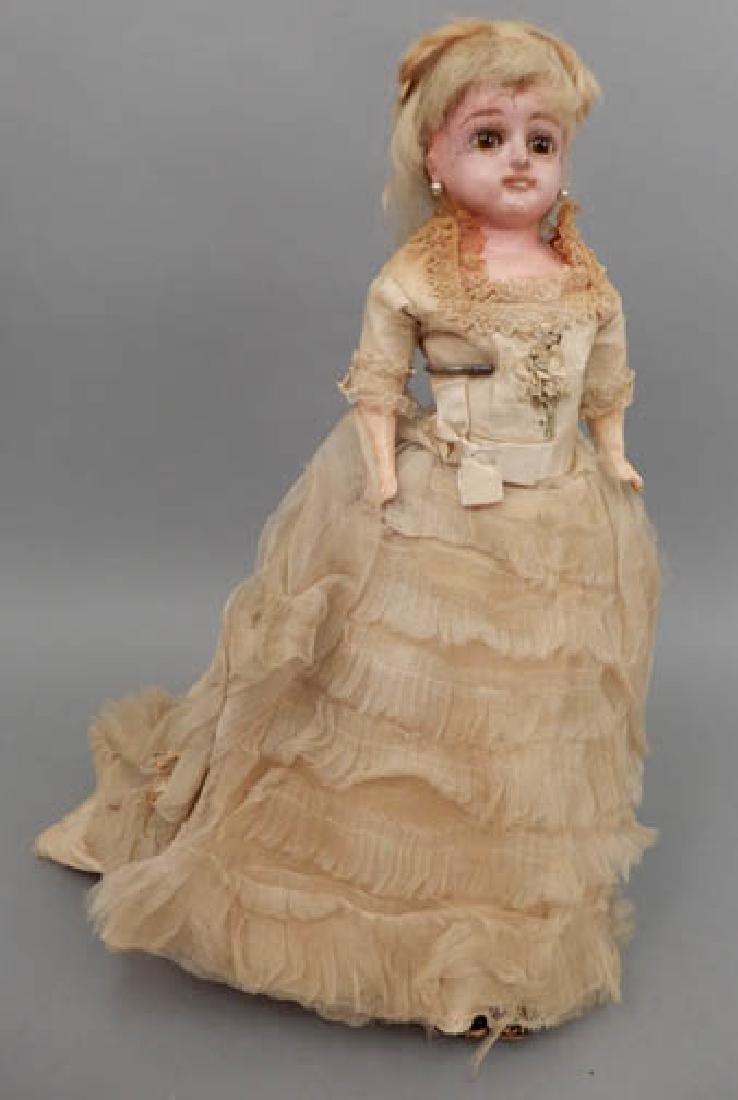 Wax shoulder head doll - 2