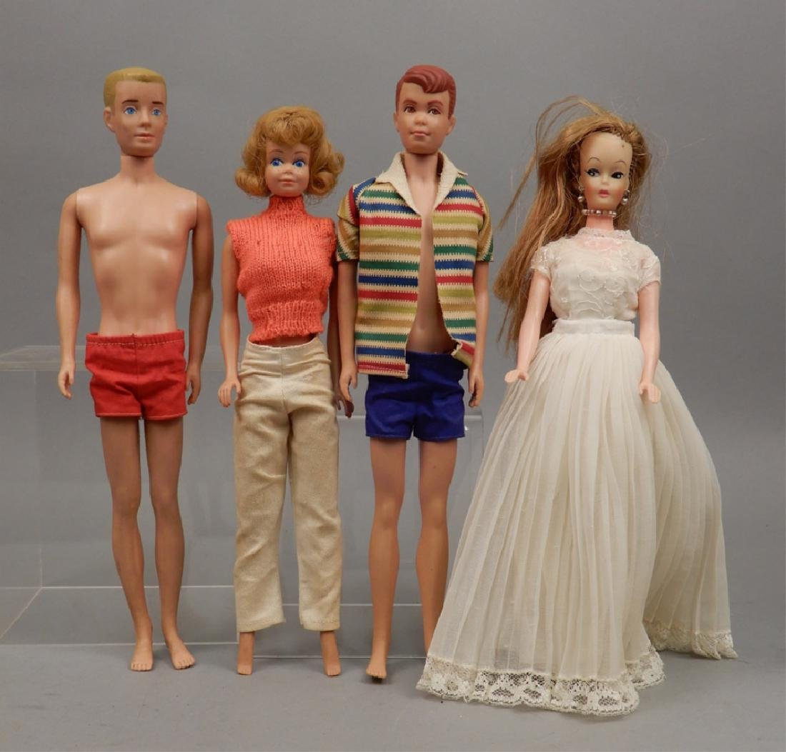Midge, Allan, Ken, and additional doll