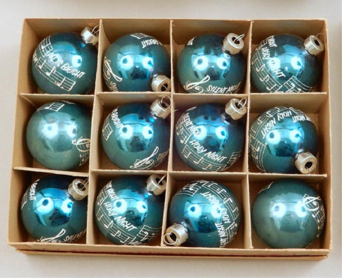 Vintage Shiny Brite Glass ornaments and snowmen - 3