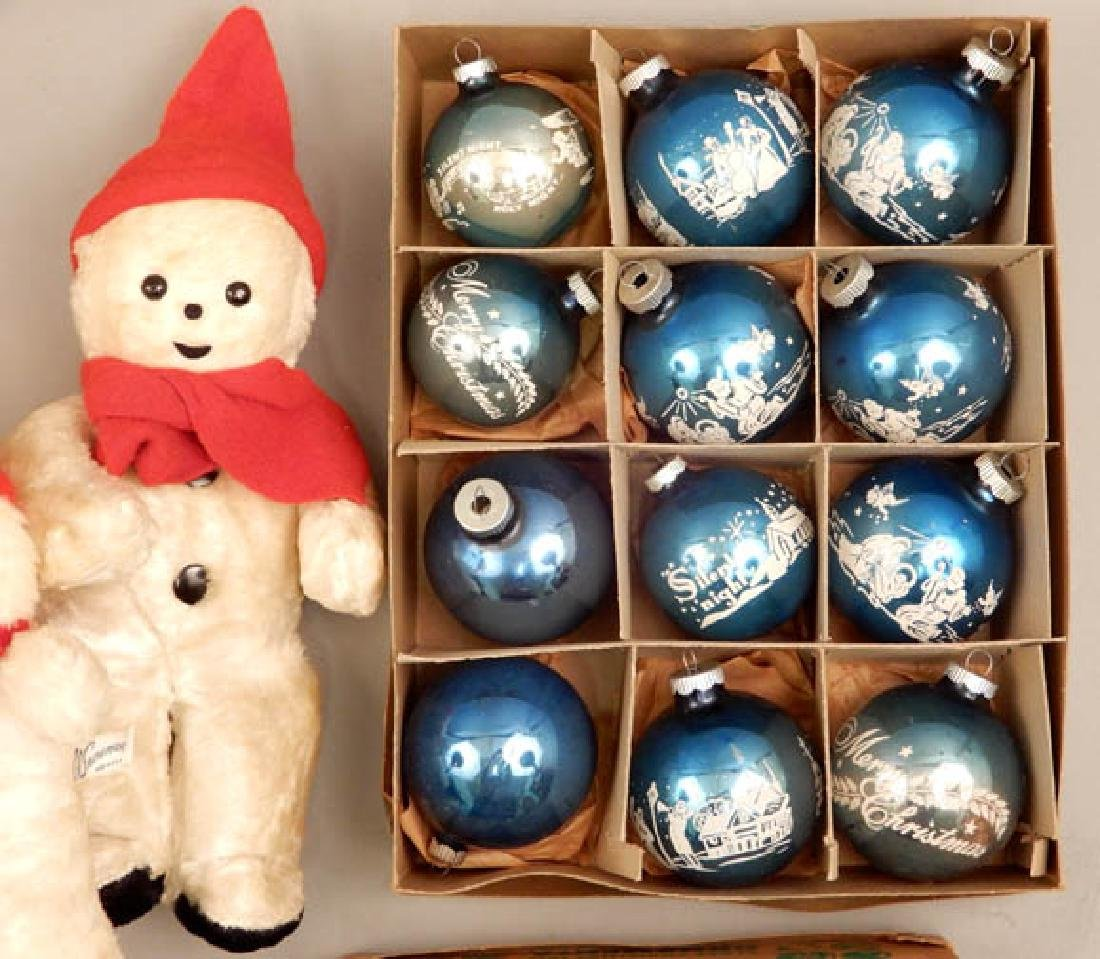 Vintage Shiny Brite Glass ornaments and snowmen - 4