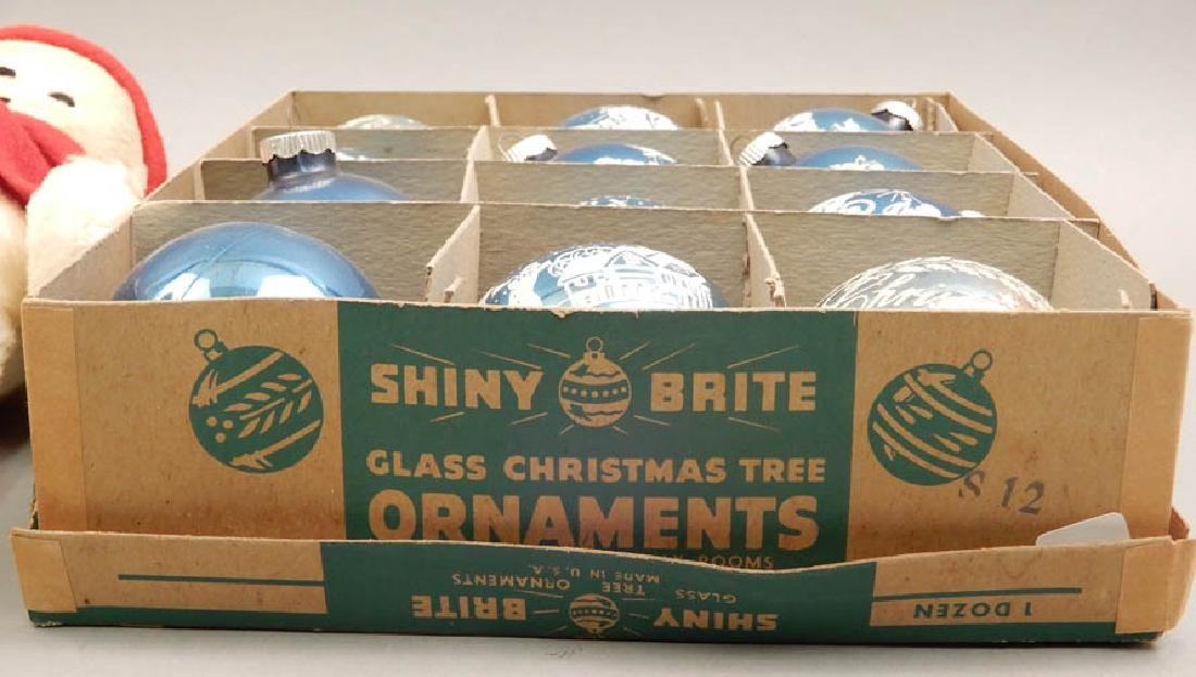 Vintage Shiny Brite Glass ornaments and snowmen - 5