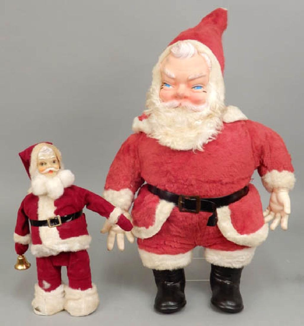 Two vintage Santa decorations