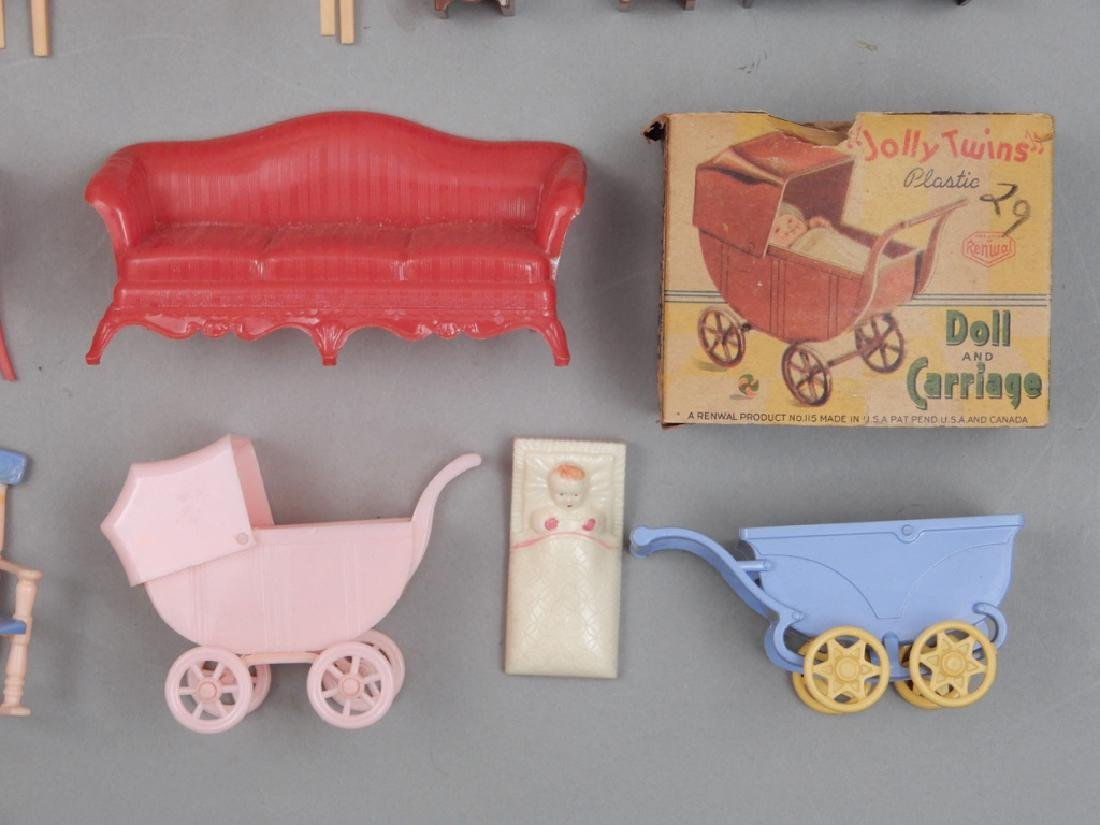 Grouping of 1940's-50's hard plastic doll house - 2