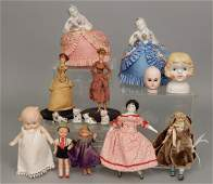 Grouping of antique and vintage bisque and china dolls