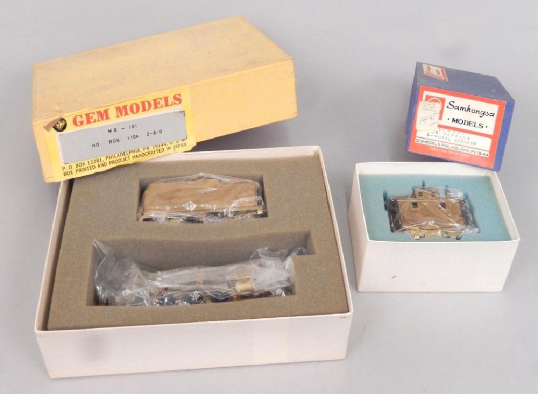 Samhongsa Models caboose and Gem Models MO 101 in boxes