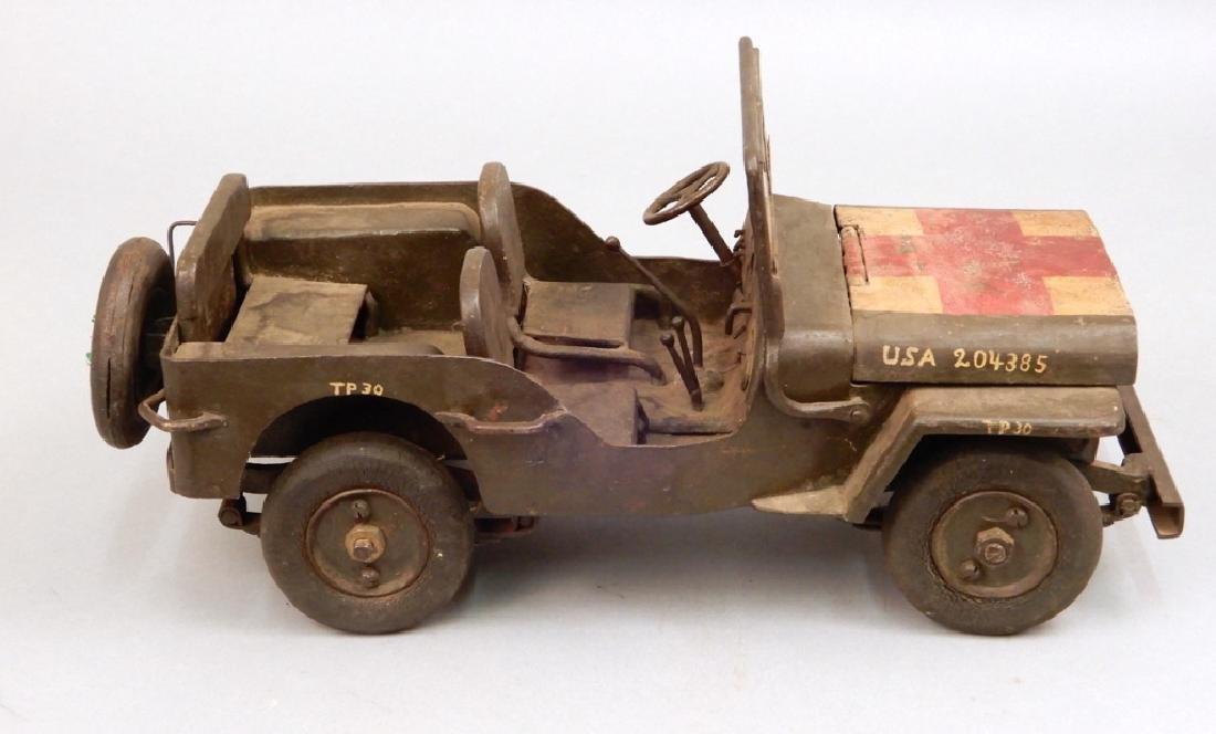 Iron military jeep model - 4