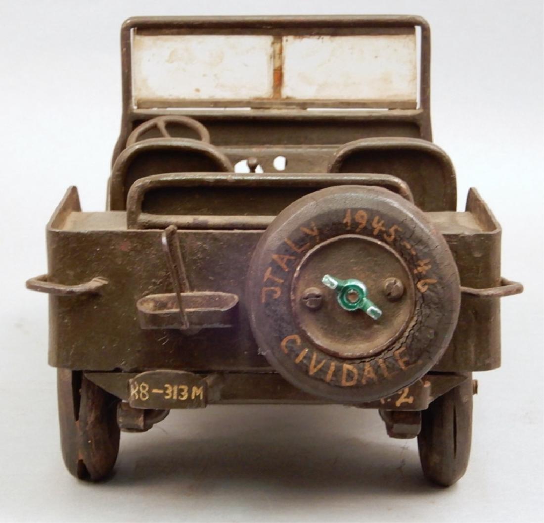 Iron military jeep model - 5