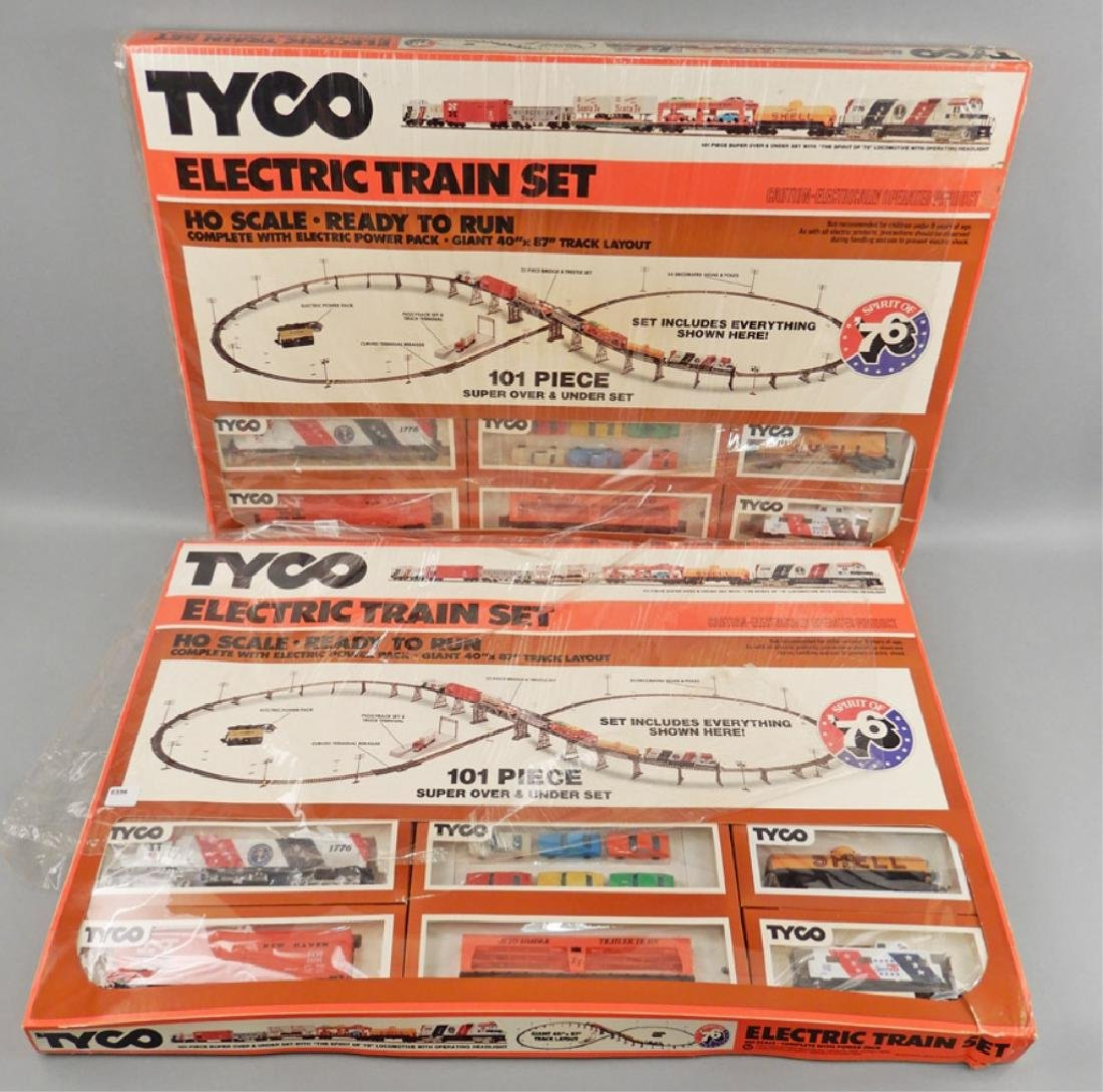 Two Tyco HO scale electric train sets, Spirit of '76