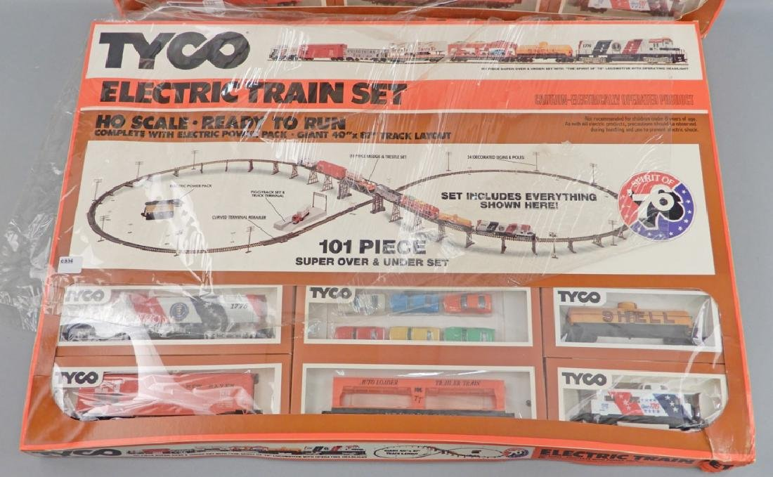 Two Tyco HO scale electric train sets, Spirit of '76 - 2