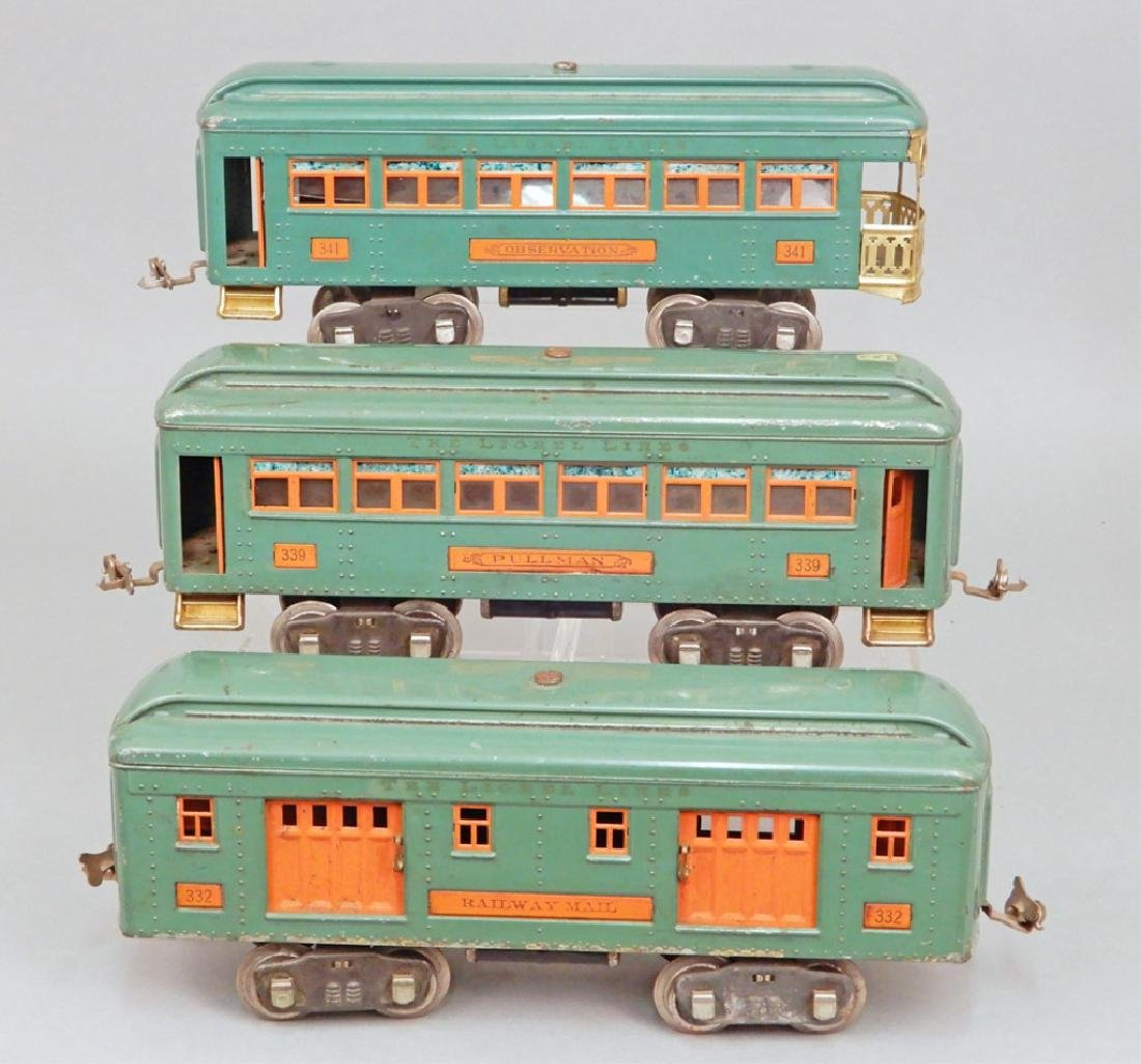 Three Lionel standard gauge passenger cars - 2