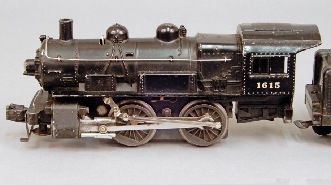 Lionel O27 gauge No. 1615 steam loco switcher and - 2