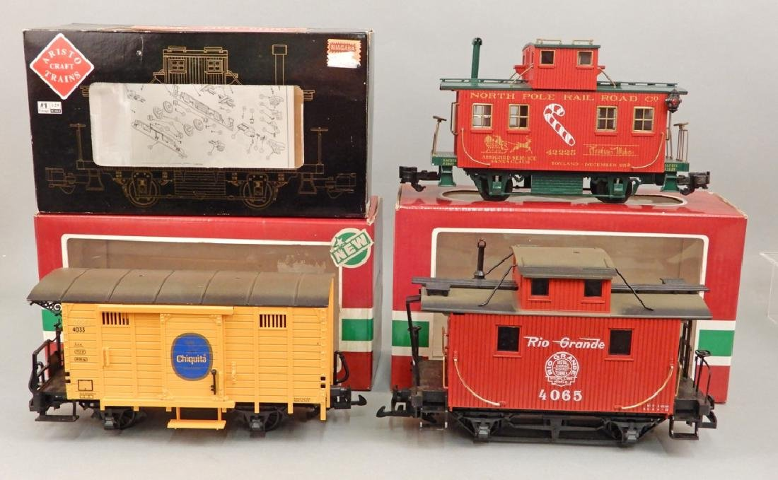 LGB and Aristo Craft Trains in boxes