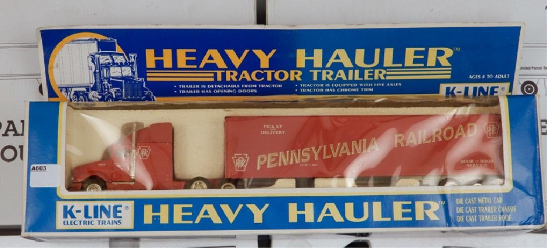 Two UPS Diecast UP1700 Doubles and K-Line Heavy Hauler - 2