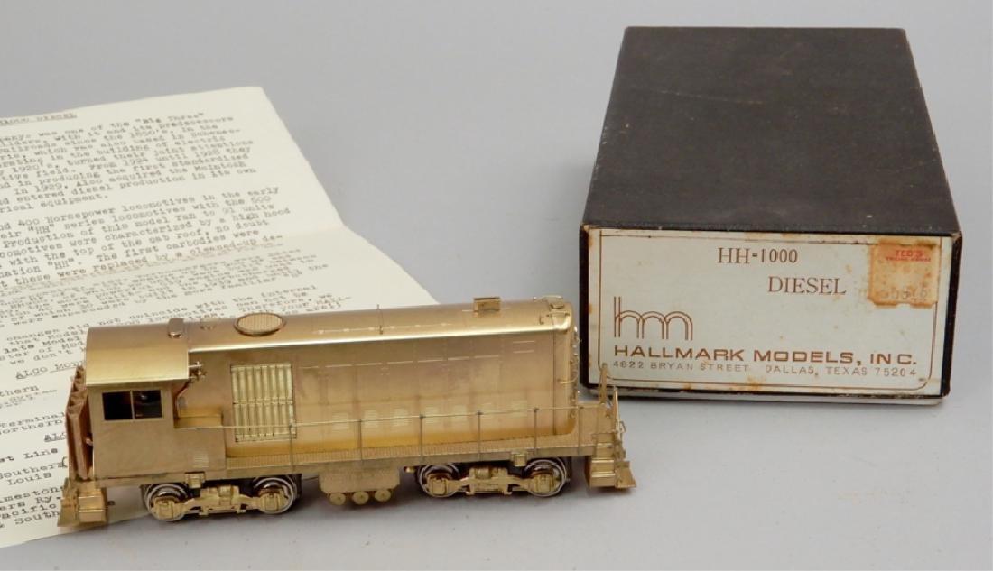 Hallmark Models brass HH-1000 Diesel engine in original
