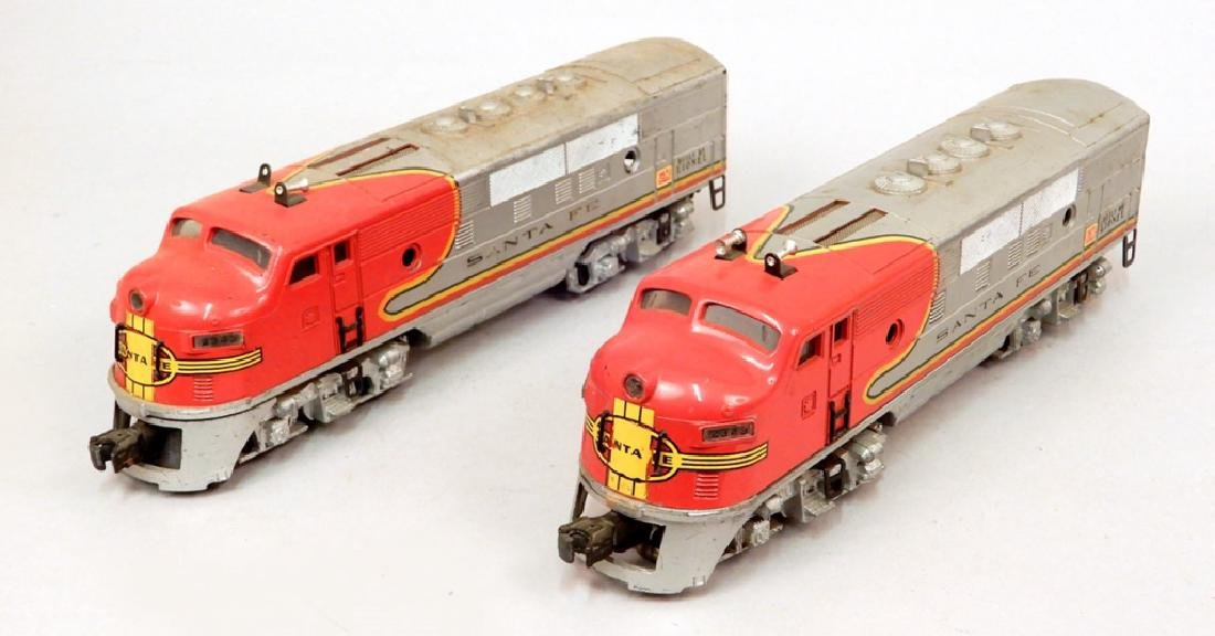 Two Lionel Santa Fe AA Diesel units