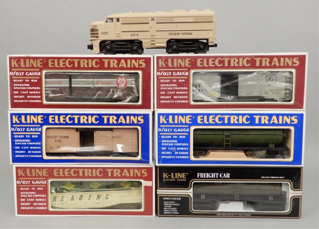 K-Line Engine and Train Cars