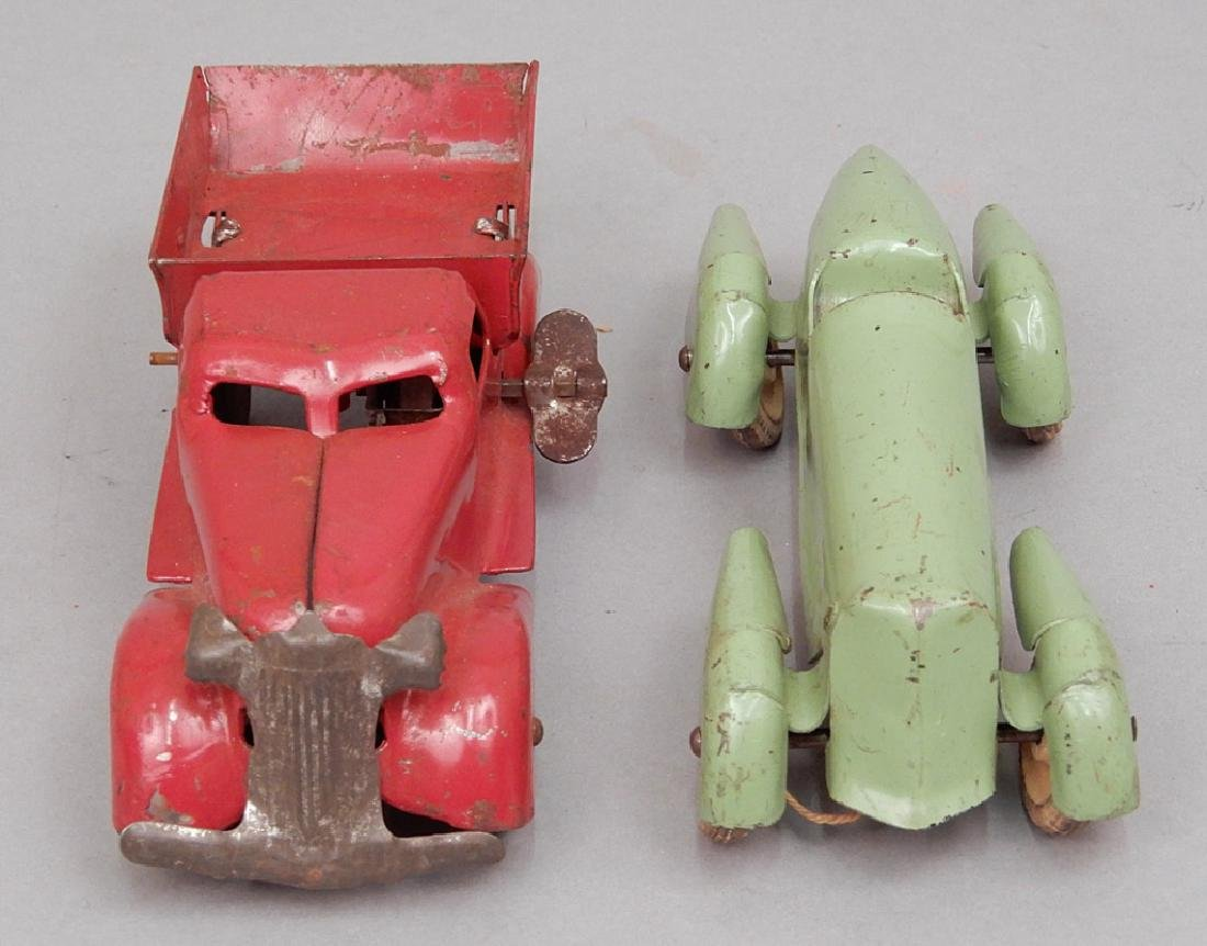 Two pressed steel cars - 2