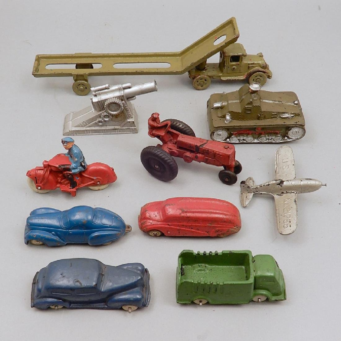 Collection of cast iron and rubber vehicles